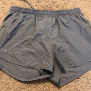 Under Armor running shorts. Large